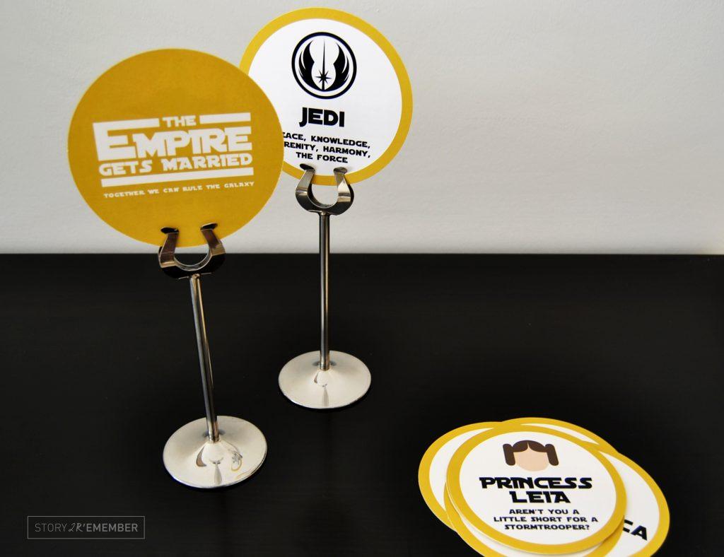 marcadores de mesa star wars