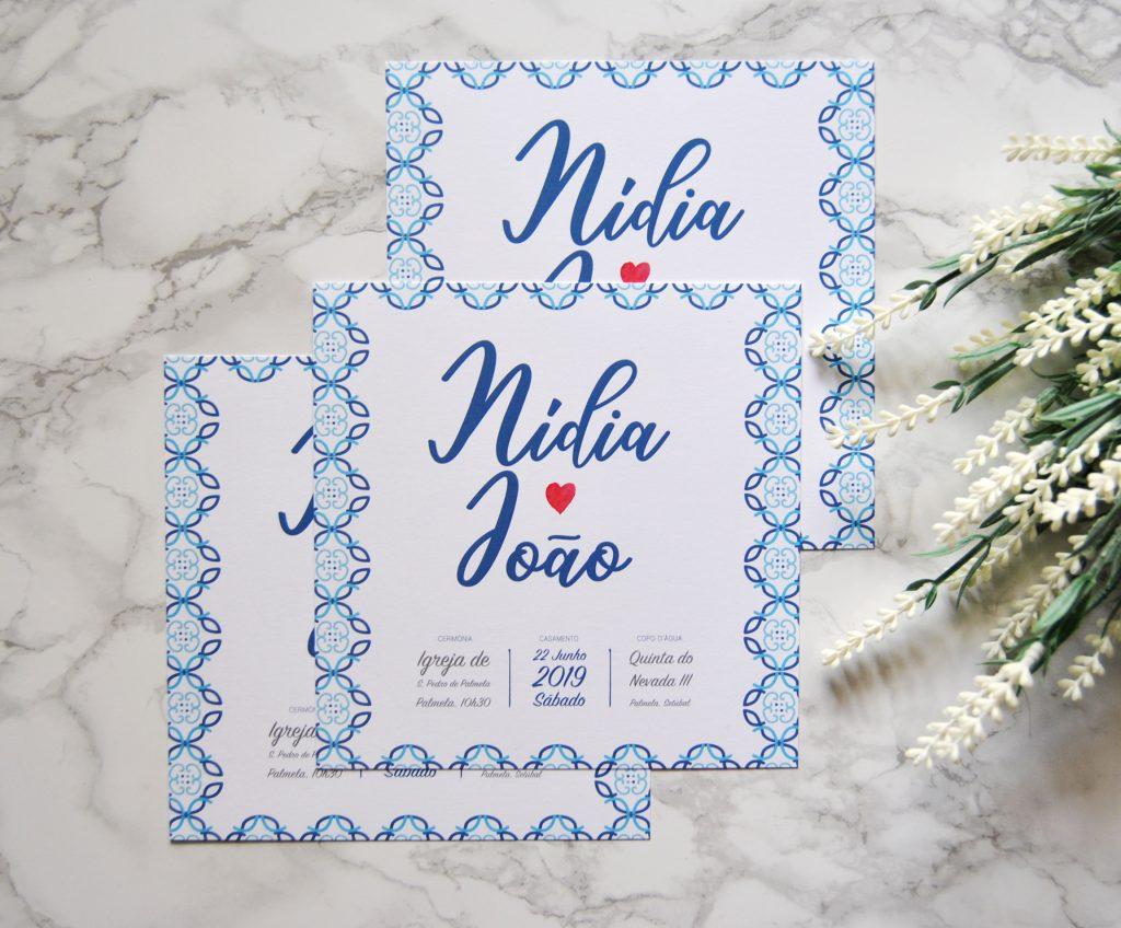 convite de casamento quadrado