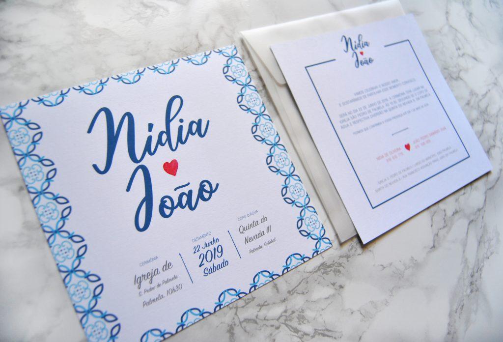 convite de casamento quadrado com envelope