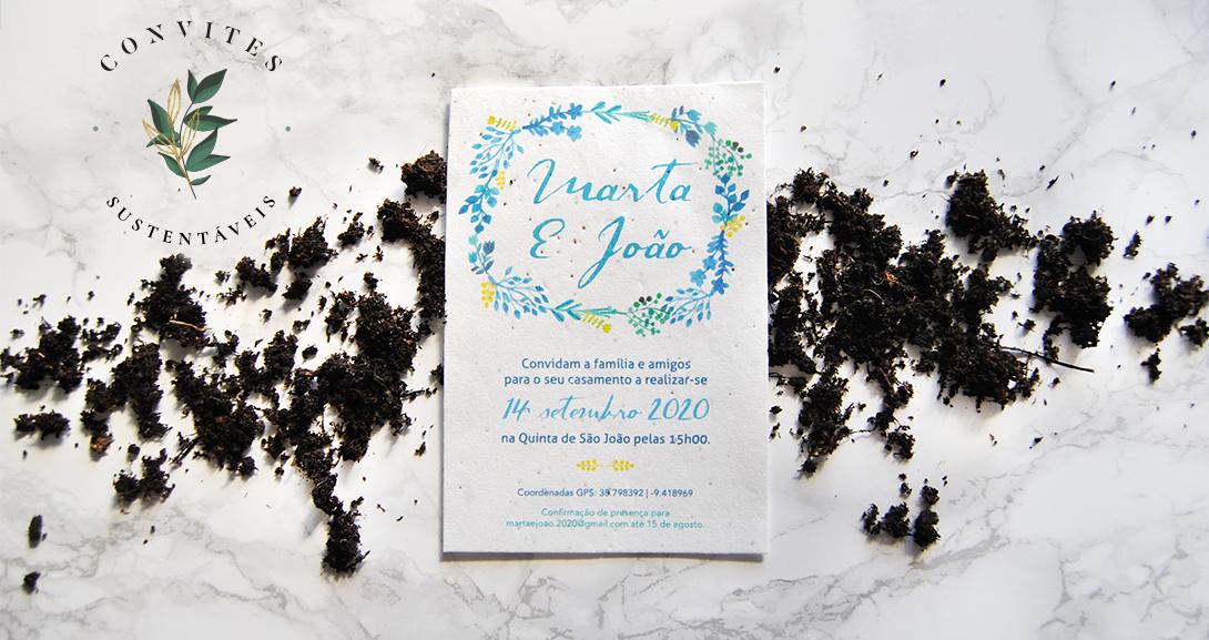 convite casamento em papel sementes