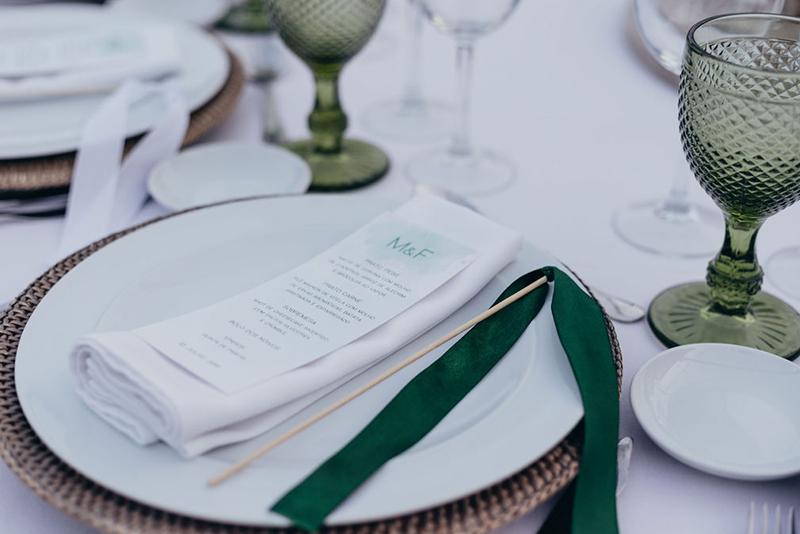 menu para casamento personalizado rustico, simples e moderno