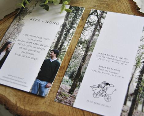 convite casamento rustico com foto noivos