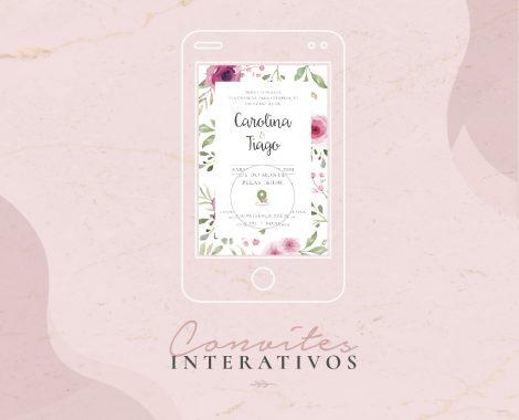 convite digital interativo e clicável para casamento