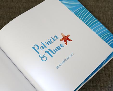 livro de honra personalizado para casamento