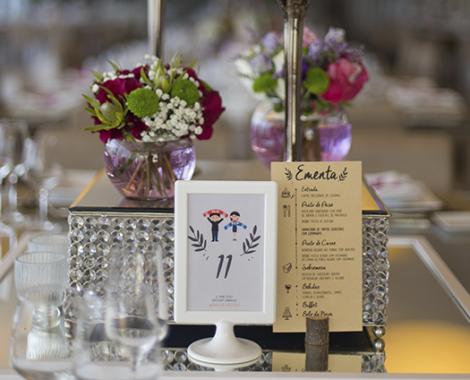 marcador de mesa casamento personalizado
