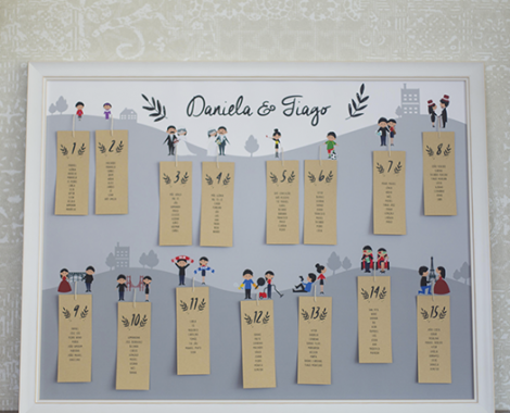 seating plan casamento personalizado